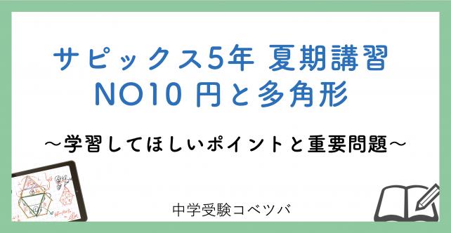 【5年生:夏期講習NO10円と多角形 解説動画付】今回の学びの話をしよう
